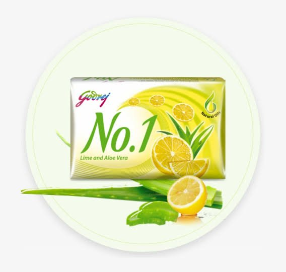 Godrej No.1 lime & aloe Vera soap MRP 10/-(216PCS)