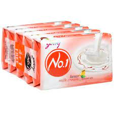 GODREJ NO 1 KESAR MILKCREAM FREE 4+1 5 U X 100GM=500G   MRP 84/-