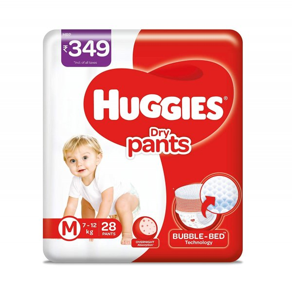 Huggies Dry Pants M Size 7-12kg 28 Pants MRP-349/-