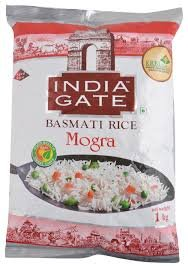 India Gate Basmati Rice Mogra 1kg  MRP 68/-