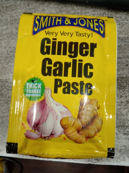 Smith &Jones Ginger Garlic Paste 25g MRP-5/-(12 PCS)