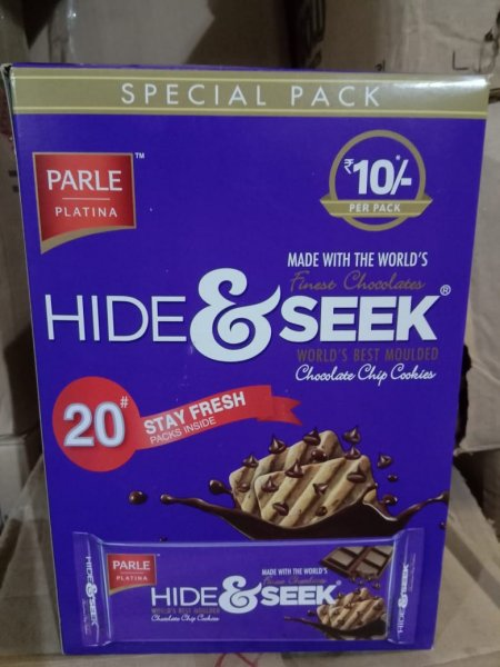 Hide & Seek Chocolate Chips Cookies 20 Packets of 33g Each MRP-200/-