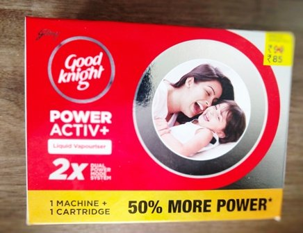 GODREJ GOOD NIGHT POWER ACTIVE 1 MACHINE + 1 CARTRIDGE MRP 85/-