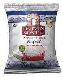 India Gate Basmati Rice Super 1kg + 25% Extra MRP 182/-