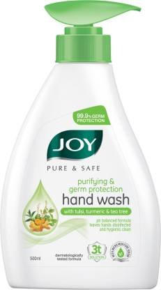 Joy Hand Wash With Tulsi , Turmeric & Tea tree 500ml MRP-180/-