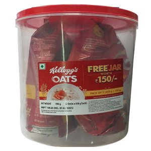 Kellogg's Oats  pack of 2 (450g+450g) Free Jar Worth Rs 150/- MRP-198/-