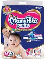 Mamy Poko Pants Extra Absorb M Size 52 Pants MRP-699/-