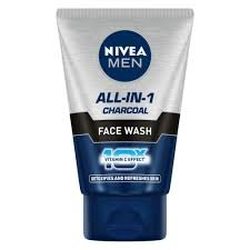 Nivea Men ALL-IN-ONE Charcoal Face Wash 50g MRP-125/-