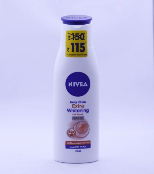 Nivea Body Lotion Extra Whitening Cell Repair 75 ml MRP-115/-