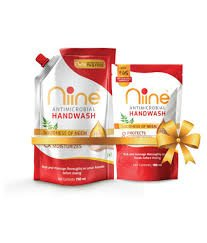 NIINE HANDWASH GOODNESS OF NEEM PROTECTS MOISTLIRIZES 750ML+ 180ML FREE HANDWASH WORTH45/- MRP 99/-