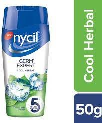 NYCIL POWDER   GERM EXPERT COOL HERBAL  50GM MRP 40/-