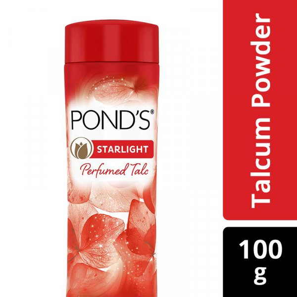 Pond's Stralight Perfumed Talc Orchid & Jasmine Notes 100g MRP-99/-