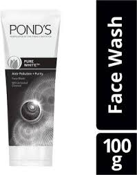 Pond's  PURE WHITE ANTI POLLUTION+PURITY FACEWASH WITH ACTIVATED CHARCOAL  100gm MRP 190/-