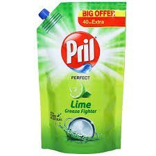Pril Perfect Lime Grease Fighter  155 ml( 120ml+35 ml extra)  MRP-20/-
