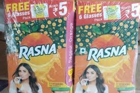 Rasna Nagpur Orange 20g +FREE Rs 5 Pack MRP-42/- (10 pcs)