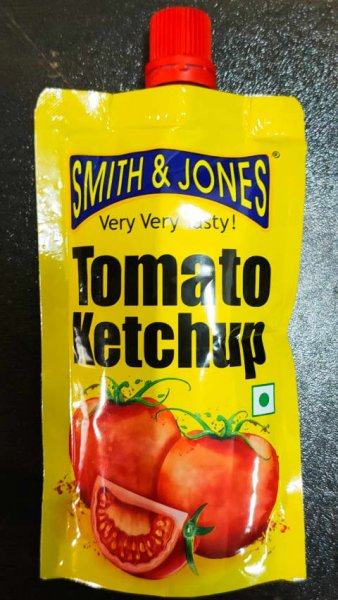 SMITH & JONES TOMATO KETCHUP MRP-15/- 90GM (1*12pcs)