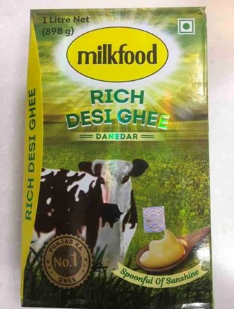 Milk Food Pure Ghee (1LTR*18=18LTR)