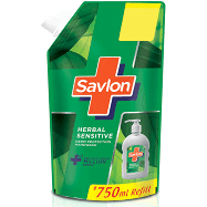 SAVLON HERBAL SENSITIVE HANDWASH 750ML REFILL MRP 99/-
