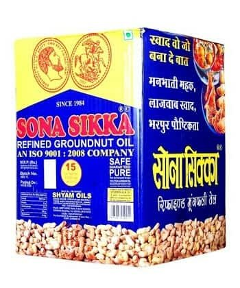 Sona Sikka Refined Groundnut oil (15ltr)