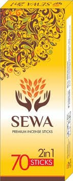 Sewa Premium Agarbathi 2 in 1 MRP-25/- (70 STICKS) (12 PCS)