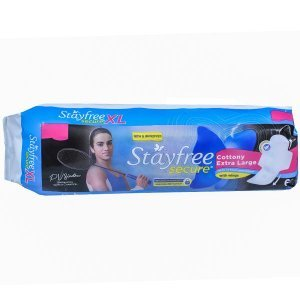 Stayfree Secure Cottony Extra Large XL 6N Pads MRP-36/-