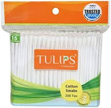 Tulips Cotton Swabs 100 Stems MRP-30/-