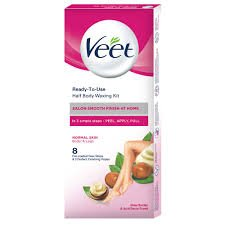 VEET Ready To Use full body waxing kit normal skin 20 strips  in simple steps -peel apply pull     MRP 199/-