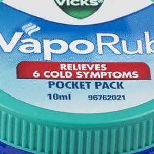 VICKS VapoRub 10ml  MRP 38/-