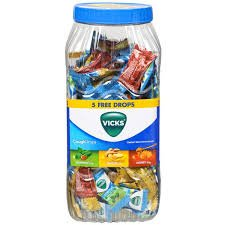 Vicks Cough Drops Jar (185 +5 pcs FREE)MRP 185/-