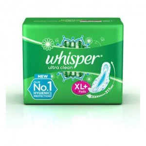 Whisper Ultra Clean  XL+ 15PADS MRP 170/-