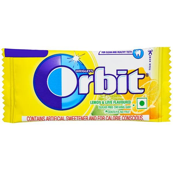 ORBIT LEMON & LIME FLAVOUR 4.4GM MRP 5/-