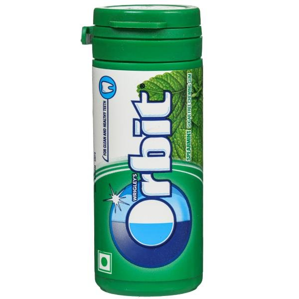 ORBIT SPEARMINT FLAVOUR SUGAR FREE 22GM MRP 50/-